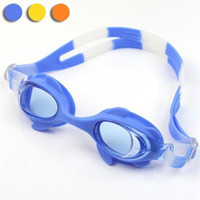 Wholesale Waterproof Children s Boys Girls kids swim eyewear Cute Silicone Candy Color Swimming Goggles glasses UL0006 salebags