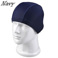 Wholesale Wholesales Fashion Men Women swimming caps high elastic fabric fashion solid color nylon swim cap Rose Red Navy Black UL0005 salebags
