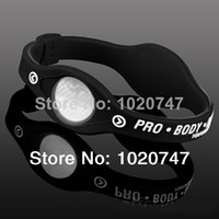 Wholesale MN Silicone Bracelet with Hologram Bracelets Power Bands Balance Energy Wristband With