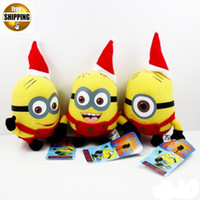 Unisex 0-12 Months Video Games Wholesale -Christmas Style Cute Cartoon 6inch Despicable Me Minion Plush Doll Minions Dave Jorge Stewart Plush Toy free shipping mix order