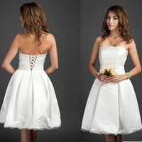 Wholesale A line Applique Strapless Floor Length Crystal Wedding Dresses Beautiful stunning Bridal Dresses