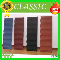 Wholesale high quality stone coated metal roof tile