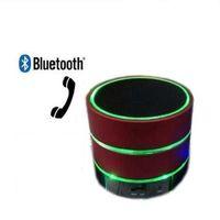 Wholesale New LED Speaker S09 Enhanced Speaker LED Light Ring Super Bass Metal Mini Portable Beat Hi Fi Bluetooth Handfree Mic Stereo USB Speakers