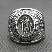 army rings - 316L Stainless Steel Silver Cool USA Army Siver New Ring
