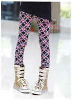 fine clothing - children clothes fall cute girl ultra fine velvet patterned elastic pencil pants leggings dandys