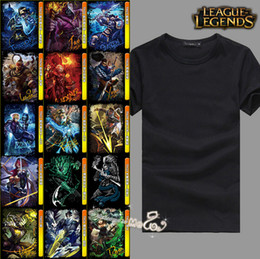 Wholesale LOL Champions Print Black Girls T Shirts Mix Styles League of Legends Men T Shirts Pure Cotton O Neck Short Sleeves Summer Boys Shirts