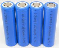 Non-Adjustable   Fedex DHL vape 18650 battery 2200mah for electronic cigarette Mod H100 K100 K200 ego vv e cigarette Vmax e cigs Telescope series Lavatube