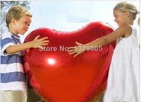Wholesale Marry Wedding Red Heart Balloon Party Decoration Ballon Heart Shape Aluminum Foil Baloon