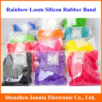 Wholesale Hot Sell packs Fun DIY Silicone Rubber Charm Kit Bracelet Loom Bands Refill Hook Bracelets amp Bangles for Children
