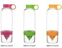 Wholesale Hot selling Fashion Water bottle Citrus Zinger Lemon Cup Fruit Infusion Water Bottles with Citrus Juicer DHL