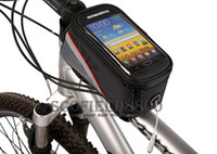 Wholesale colorful Outdoor quot Bike Bicycle Cycling Frame Tube Panniers Waterproof Touchscreen Phone Case Reflective Bag