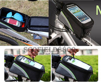 Wholesale SALE pieces colorful Outdoor quot Bike Bicycle Cycling Frame Tube Panniers Waterproof Touchscreen Phone Case Reflective Bag