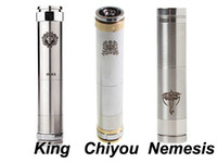 mod only Non-Adjustable  Chiyou Mechanical Mod Locking Bottom Button Adjustable King Nemesis Chi you E Cigarette Mod for 18650 18350 battery mod Clone Huge vapors