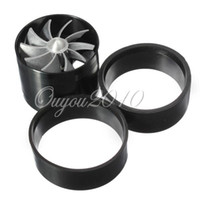 Universal Aluminum alloy Air Intakes Wholesale - Black Universal Car Fuel Gas Saver Supercharger Turbine Turbo Charger Air Intake Fan Turbocharger Free Shipping