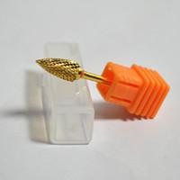 Wholesale MN Arc tip Shaped Nail Art Machine Carbide Nail Drill Bits Gold Sanding Electric File Original Nail Drill Tools Metal NA084