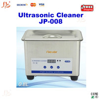 Wholesale Free ship V V L small household digital ultrasonic cleaner cleaning machine JP for glass Jewelry shaver cleaning