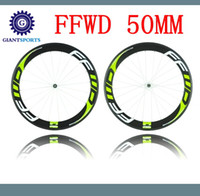 Wholesale 2016 Green Decal FFWD Fast Forward Carbon Wheels Hand Builting Holland Road Bike Wheelset Tubular or Clincher Carbon Wheels MM Rim