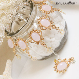 Wholesale Retro Palace Women Bracelet Ring Wedding Jewelry Charm Bracelet Party Dress Accessories CN175