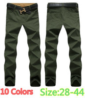 100% Cotton army trousers sizes - 2016 New Men s Fashion Casual Pants Washed Cotton Business Trousers Colors size Large size K046