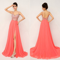 ssj In Stock XU015 Prom Dresses Cheap Sexy Long 2014 Party C...
