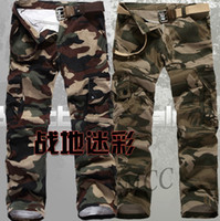 Men camouflage pants - 2016 Spring New Mens Military Pants Washed Camouflage Outdoors Cargo Jeans Plus Size JGK4