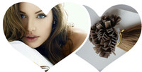 Brazilian Hair #1,#2,#4,#6,#8,#27,#60 and any color  Straight new hot goods 300g lot Flat Tip Hair Extension Human Hair Extensions 100% Brazilian Remy Virgin Hair