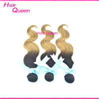 Indian Hair Body Wave Under $30 Ombre Hair Indian Human Hair Weave Hot Ombre Hair Extensions Queen Hair 4 pcs lot T1B 27 Factory Sell Top Quality Cheap Indian Hair Weft