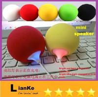 2.1 For MP3 Player MP3 Speaker Wholesale -cheap ball music speaker 3.5mm Audio Docking Stereo Music Balloon Ball Mini Speaker for MP3 MP4 Cell Phone ipod nano