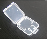 Wholesale Clear Plastic Camera Micro SD Card Protective Case Phone TF Card Packing Box CM Size Boxes Cheap Sale