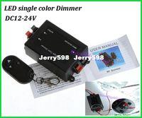 Wholesale X Led single color dimmer DC12 V RF remote control dimmer black brightness adjust fast shipping