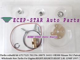 Turbo repair kits rebuild kits GT1752S 701196-5007S 701196-0001 14411-VB300 701196 For NISSAN Y61 Patrol 1997- RD28TI RD28ETI 2.8L 129HP