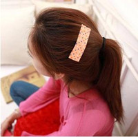 Barrettes & Clips Side folder Pink sapphire blue red white black yello A104 Korean oversized BB clip hairpin hair accessories hairpin top folder popular fine dots small jewelry wholesalefree shipping
