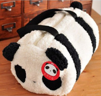 baby travel bags - Large Cute Plush Panda Cylindrical Handbag Travel Bag Storage Shoulder Baby Bag