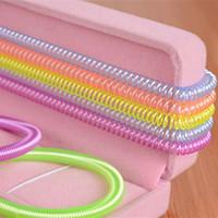 Wholesale MN Korean Hair Band Hair Accessory Fluorescent Color Telephone Line Elastic Bracelet For Women JJ181