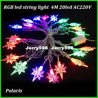 Wholesale North star led string light RGB full color christmas decoration light outdoor Fairy Christmas Garden Wedding Party fast shipping
