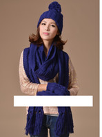 Wholesale 2014 New Warm Winter GIRLS PIECE HAT SCARF amp GLOVES SET ONE SIZE Colors