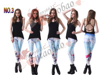 Polyester Mid European and American Style Discount european style women long leggings frozen girls Tight pants anna and elsa digital printing women clothing MOQ=1pcs dorp shipping
