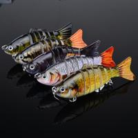 Precio de Buena pesca-5pc / lot nuevo 2014 Proberos 7 secciones que pescan el señuelo 10cm / 4