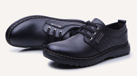 Men Oxfords Spring and Fall 2014 British Men Genuine Leather Oxfords,Designer Brand Lace Up Business Dress Shoes,Fashion Causal Flats Shoes Free Shipping