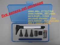 Wholesale DHL Professional Otoscope Diagnostic set Pen Style Earcare medical use penlight otoscope ophthalmoscope