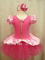 Wholesale MN new girl s fashion petti dress with hair Ornaments baby princess chiffon tutu dress baby hot pink dance clothing