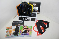 Cheap 2014 Fitness Insanity Workout T25 Focus MIB With Band Shaun T's T25 10 DVD Slimming Body Building Teaching Video Muscle Shaping Beauty Crazy