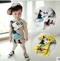 Wholesale 2014 Summer New Children Girl s PC Sets Skirt Suit Minnie Mouse baby Clothing sets girls clothes