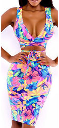 Wholesale 2013 New Fashion Womens Sleeveless sexy Floral Print dress Piece Stretchy Bodycon Bandage Dress Women Sexy Novelty Party dress