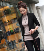 Women Blazer Lapel Neck The New All-match Self-cultivation A Grain Of Button Small Jacket Size Tailored Suit Wholesale
