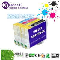 Wholesale 4x empty Refill ink cartridge for canon T0561 T0564 for Epson STYLUS PHOTO RX430 with chip