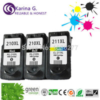 Wholesale 3pk refill ink cartridge for canon PG XL CL XL for Canon MP240 MP250 MP280 MP480 MP490 MP495 chipped full ink