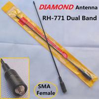 Wholesale NEW Diamond Antenna RH RH Dual Band VHF UHF Antenna SMA F Female For BAOFENG UV R UV B5 TG UV2 KG UVD1P PX K TK Radio