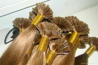 Peruvian Hair #1b/2/4//6/8/16/18/60/613 Straight 100% Peruvian Keratin Hair Human Virgin Hair Flat-Tip Hair Extension Pre-bonded hair Extension Human Remy Hair 6A Grade 1g strand 300g lot