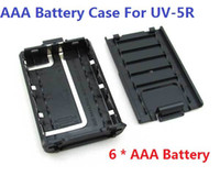 Wholesale Update New Version BAOFENG UV R Battery Case For UV R UV RA UV RB UV RC UV RE Plus TH F8 Two Way Radio AAA Battery